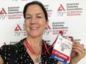 Theresa Garnero at the American Diabetes Association Conference