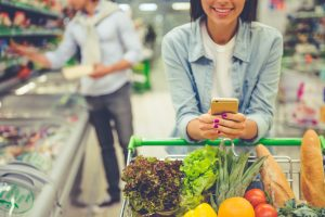Take your meal planning notes to the grocery store and focus on real food