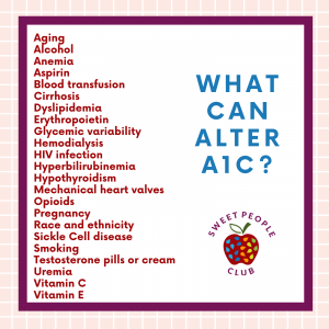 A list of what can alter an A1C result